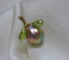 Perlen-Halsketten & -Anhänger mit Amethyst Sets aus Gelbgold für Damen