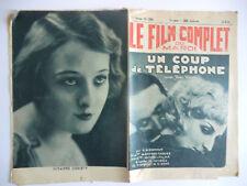 Le film complet du mardi n°1224- 1932 Un coup de téléphone par C.A. Gonnet