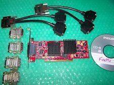 ATI FireMV 2400 PCI Quad Monitors  Graphics card  with cables (not PCI Express)