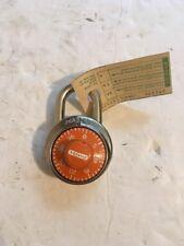 Master Lock Combination Padlock #1525 with orange Dial , For Lockers ,(R2#7)