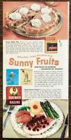 1963 Sun Maid Raisins and Sunsweet Prunes PRINT AD Satin Pie Royal Raisin Sauce