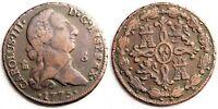 España-Carlos III. 8 maravedis. 1775. Segovia. VF/MBC. Cobre 11,6 g. Escasa asi