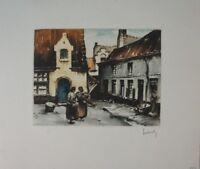 Roger Hebbelinck signiert nicht numeriert Lithographie 21x17,5 cm  G-974