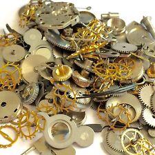 50 Grams Steampunk Watch Parts Wheels Gears Hands Altered Art Lot Repair Vtg Old
