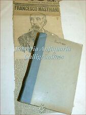 ROMANZO Francesco Mastriani: I VERMI 4 voll. in 1, Napoli Lubrano 1907+ Articolo