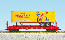 USA Trains G Scale PiggyBack FlatCar with Matching Reefer Popeys Punch NEW