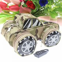 Cute School Pencil Case for Boys Pen Stationery Supply Camouflage Canvas Large