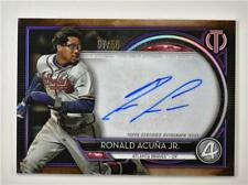 2020 Tribute Auto Purple #TA-RAJ Ronald Acuña Jr. /50 - Atlanta Braves