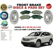 FOR HONDA CR-V CRV IV 4WD RM RE 2012-ON FRONT BRAKE DISCS SET + BRAKE PADS KIT