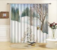 3D Snow Hills 2 Blockout Photo Curtain Printing Curtains Drapes Fabric Window AU