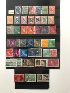 Finland Stamps selection of used Finnish postage from album