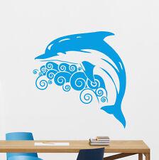 Dolphin Wall Decal Sea Waves Vinyl Sticker Bathroom Poster Decor Mural 121xxx