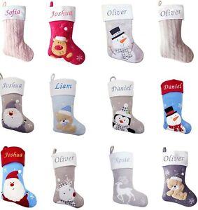 Personalised Christmas Stocking Xmas Embroidered Boys Girls Baby Stocking