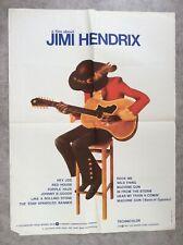 A Film about Jimi Hendrix Affiche Cinéma 1974 Original Movie Poster Jimi Hendrix
