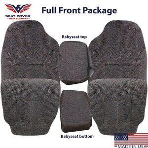 1998 1999 2000 2001 2002 Dodge Ram 1500 2500 3500 Cloth Seat Cover Dark Gray