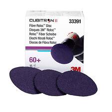 "3M 33391 Cubitron II 3"" 60 Grit Roloc Discs, 15 Discs Per Box"