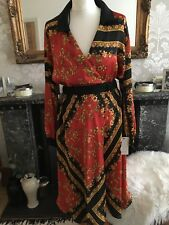 ZARA Scarf Print Crossover Dress SMALL BNWT ❤️Stunning Wedding Occasion