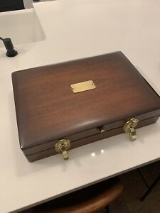 Flatware Silverware Box Storage Chest Case Anti Tarnish Proof Lining Removed