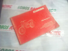 CATALOGO RICAMBI ORIGINALE MOTO MORINI 350 KANGURO SPARE PARTS CATALOGUE