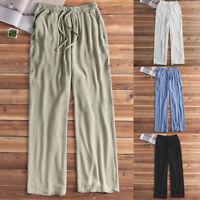 INCERUN Retro Men Loose Baggy Pants Beach Yoga Pajamas Causal Sleepwear Trousers