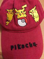 Vintage 90s Pikachu Red Hat Pokémon Pocket Monster Rare Old Retro Baseball Cap