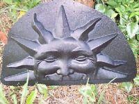 "Half sun mold plaster cement resin casting reusable mold 15"" X 9"""