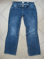 RIVER ISLAND Distressed Denim Slouch Fit Jeans Size 8 Regular Leg