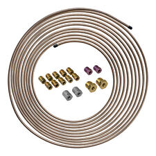 25 ft 3/16 Copper-Nickel Brake Line Tubing Coil and Fitting Kit, SAE Inverted