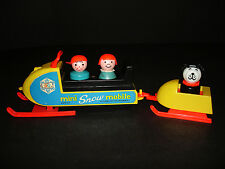 VINTAGE FISHER-PRICE LITTLE PEOPLE PLAY FAMILY SNOWMOBILE #705 NICE!