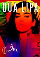 Dua Lipa poster - #12 - Retro Effect - Signed (copy) - A4 (297mm x 210mm)