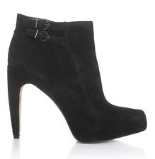 Sam Edelman Kit Suede Ankle High Heel Boots Black Women Sz 11 M 2033