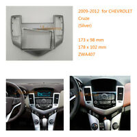 2 Din Car Radio fascia Facia Panel Adapter for CHEVROLET Cruze 2009-2012 Silver