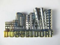 Düsseldorf 3D Metall  Magnet Metallic silber,Germany,hochwertig !