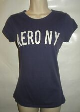 Aeropostale Womens Purple AERO NY Graphic Tee T Shirt Size Small