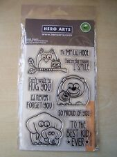 HERO ARTS -CLEAR STAMPS - THE BEST KID EVER  - 9 STAMPS