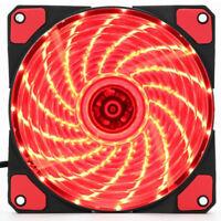120mm 15 LEDs 12V 9 Blades Ultra Silent Computer PC Case Cooling Fan Cooler Red