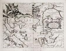 EGEO TRACIA GRECIA - Carta Geografica - CORONELLI 1690 Aegean Sea Greece