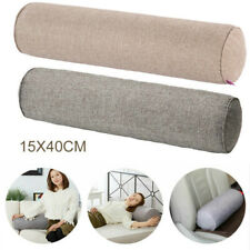 Long Orthopaedic Bolster Pillow Cotton Linen Nursing Roll Neck Cushion Headrest