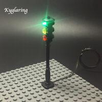Kyglaring LED Street Traffic Signal Light Accessory For LEGO City Series Bricks