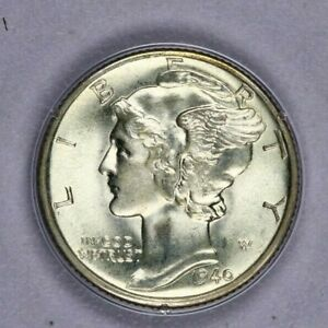 1940-D 1940 Mercury Dime MS64 FB Ratter Old Green Holder