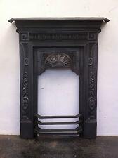 Original Restored Antique Victorian Cast Iron Small Bedroom Fireplace (EM051)