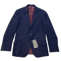 M&S COLLECTION Slim Fit Wool Blend Blazer Jacket Navy Blue Size 38 M NEW RRP £89