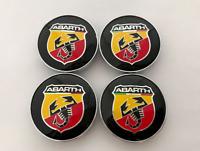 FIAT Abarth Emblem logo 4 x 60mm Abdeckung der zentralen Schraubenabdeckung