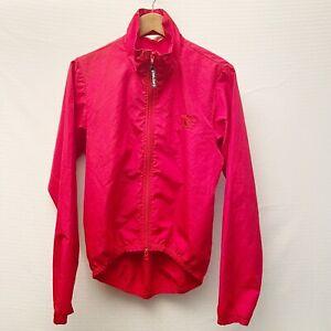 Pearl Izumi Mens Small Red Cycling Jacket Full Zip Pls Read Flaw