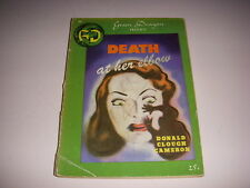 DEATH AT HER ELBOW by DONALD CLOUGH CAMERON, GREEN DRAGON DIGEST PULP, 1940!