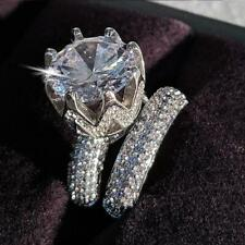 wedding ring set for women Luxury Cubic zirconia 925 sterling silver