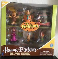 "The Flintstones Hanna Barbera 2"" Box Set 6 Figures Jazwares Fred Barney Dino"