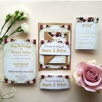 Personalised Wedding Invitations - Day or Evening Invitations + Stationery