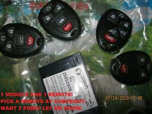 New 25852909 OEM GM Keyless Entry Receiver Transmitter Kit Remote Start Key Fob