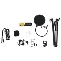 BM800 Condenser Microphone Kit Studio Suspension Boom Scissor Arm Sound Car P9B9